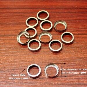 Image 2 - 100 יח\חבילה 18650 סוללת ליתיום הגנת לוח נירוסטה טבעת כובע הגנת סוללה לוח גומי כרית בסיס גומי טבעת