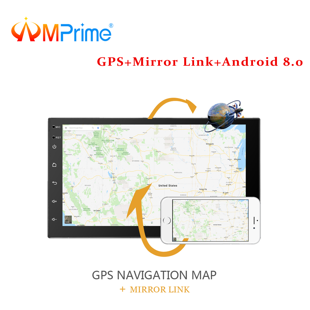 AMPrime 2 din Car Radio Android GPS Navigation Autoradio MP5 Player 7