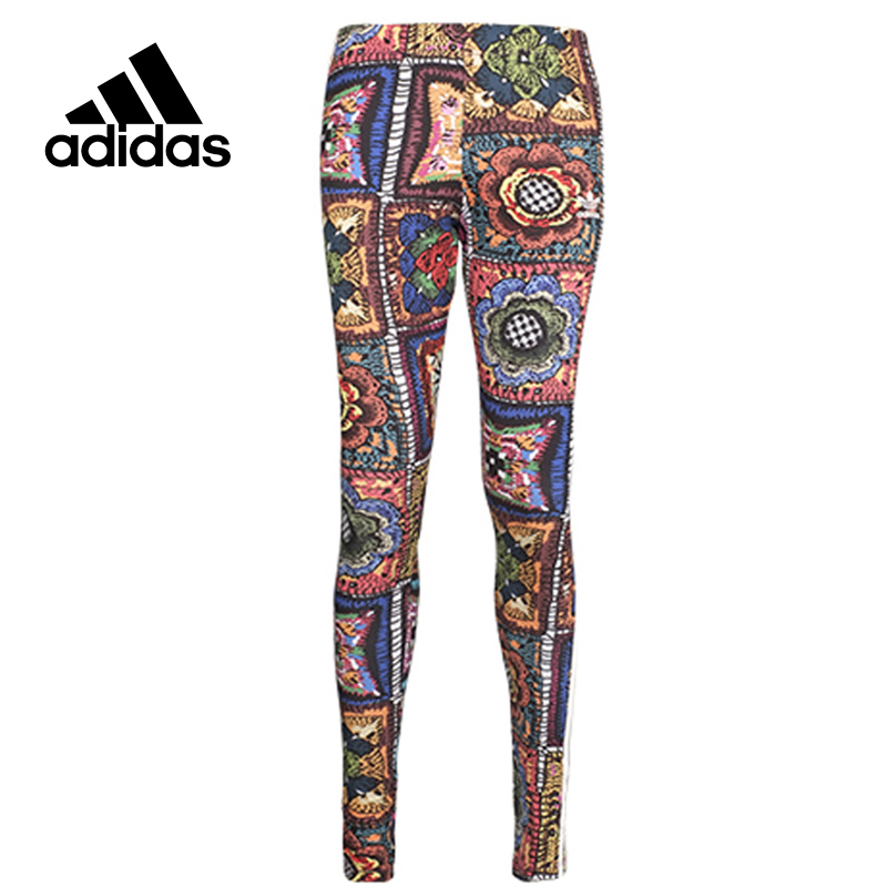 Original New Arrival Official Adidas Women's Tight Elastic Waist Full Length Colourful Pants Sportswear original new arrival official adidas women s tight elastic training black pants sportswear