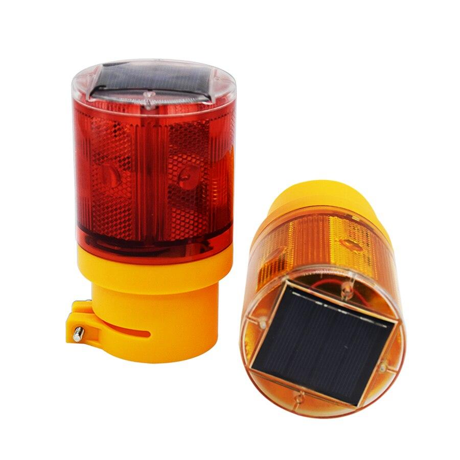 Solar Light Blinker Flash 6LED Bulb Traffic Light led With Solar Cell For Construction site Harbor Road Emergency Lighting