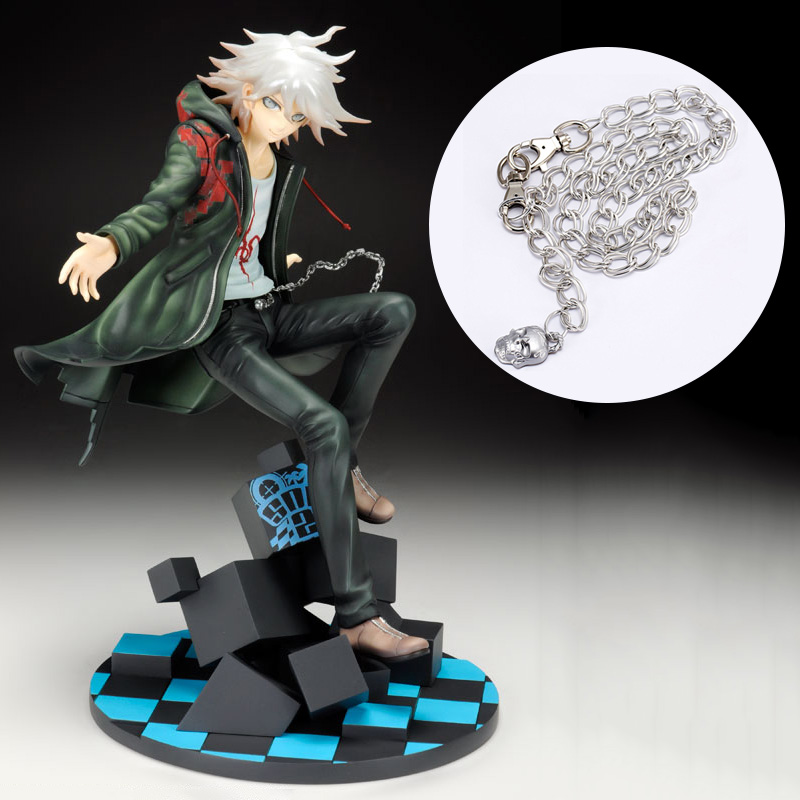 Anime Danganronpa Komaeda Nagito Cool Cosplay Accessory Kito Belly Chains Skull Waist Chains For Halloween Party
