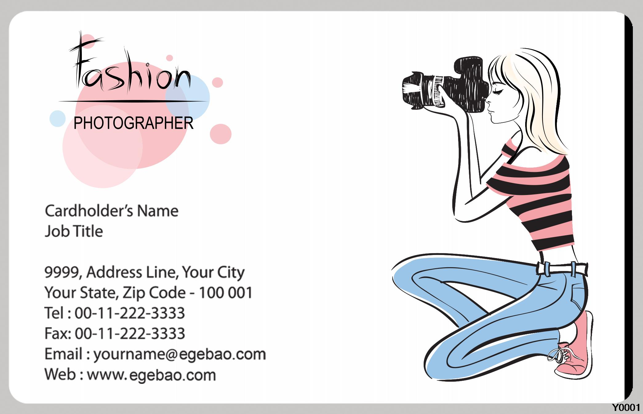Aliexpress buy photography girl business card template with aliexpress buy photography girl business card template with single sides printing for personal y0024 from reliable print business cards suppliers on friedricerecipe Gallery
