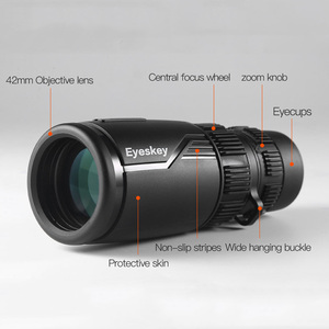 Image 5 - Eyeskey zoom 8 24x42 compacto e portátil, monóculo monocular à prova d água, com telescópio bak4, para acampamento e fome