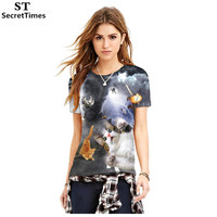 SecretTimes Brand 3D T Shirt Originality Cat T Shirt Leisure Tshirt Homme Women Men Funny O