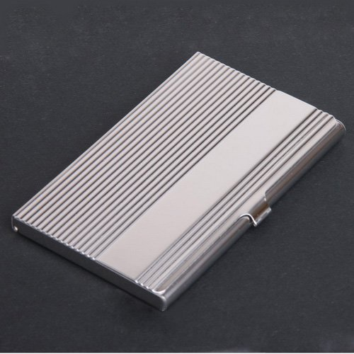 free shipping wholelase hot mens stainless steel metal business card holderwomen name card case metal box in card id holders from luggage bags on - Metal Business Card Case