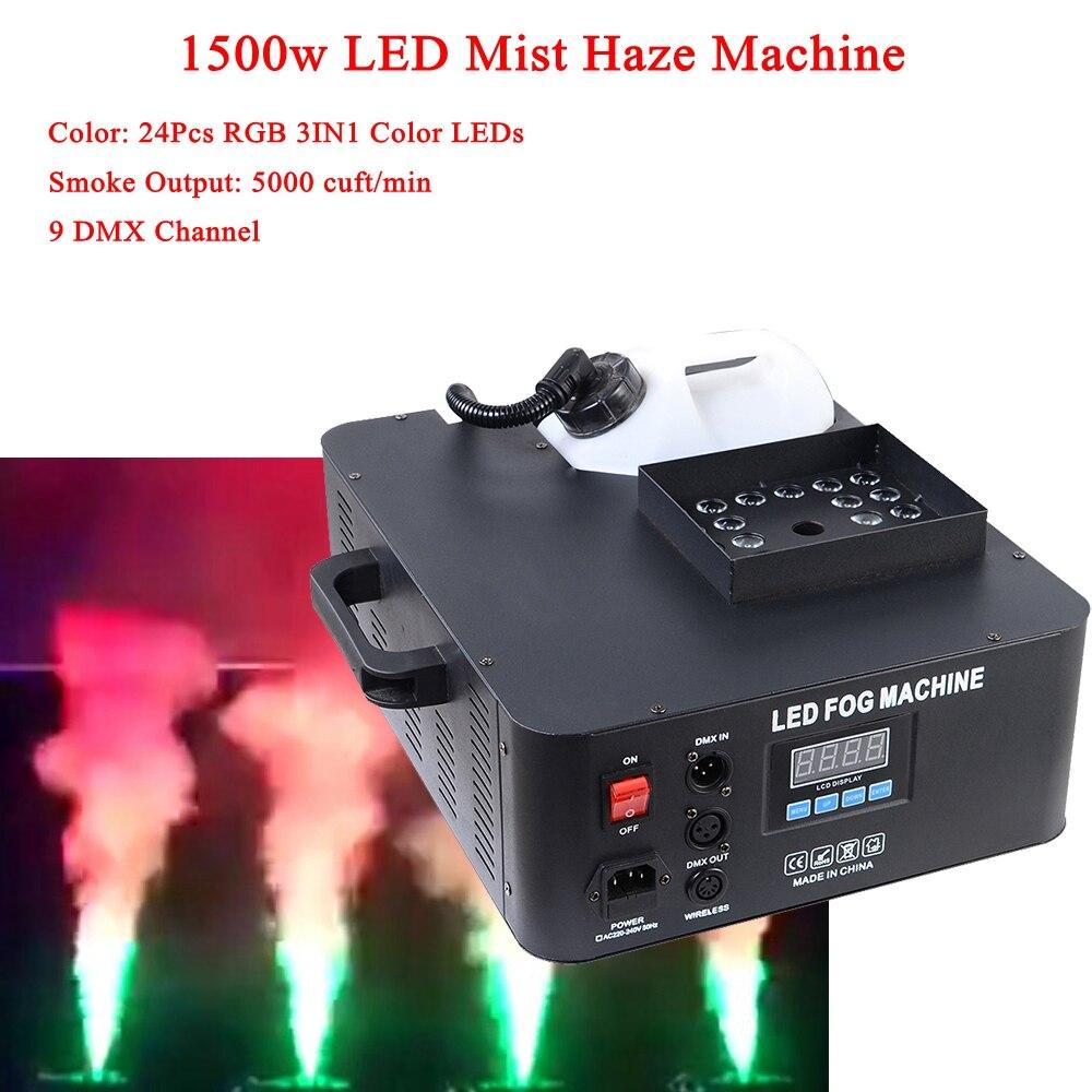 1500w Mist Haze Machine 3.5l Fog Machine DMX512 Smoke Machine DJ /Bar /Party /Show /Stage Light Profession Led Machine Fogger