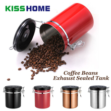 Coffee  Container Sealed Cans 304 Stainless Steel Exhaust Tank for Dried Fruit Tea Storage With Timing Valve