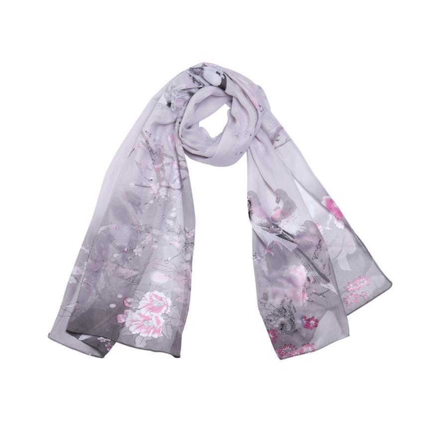 2019   scarves   for women silk   scarf   shawl Fashion Unique Style Long Leopard Shade Shawl   Scarf     Wrap   Chiffon forMAR18