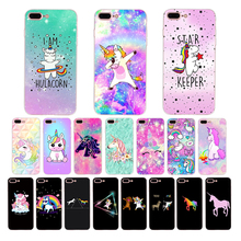 Cute cartoon Hippo Unicorn Horse Case Cover For iPhone 8 7 XS Max XR X 6 6s 5s 5 10 se Pattern print soft silicone shell Coque