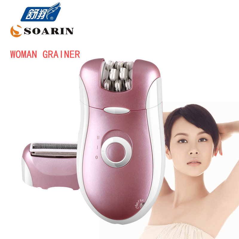 KEMEI Electric Epilator Pink 2 in 1 Epilator Hair Removal Depilador For Face Body Arm Leg Rechargeable Multifunction lady Shaver