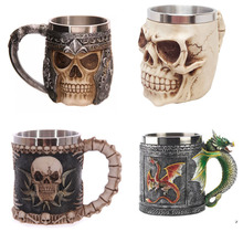 Skull Cup Old Eagle Claw Head Resin Bone Stainless Steel Mug