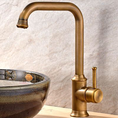 New Arrival Vintage Style Bathroom Basin Sink Faucet Antique Brass Mixer Tap Single Handle Single Hole Solid Brass Deck Mounted mimaki jv33 sb53 permanent chip for mimaki jv33 sb53 printer