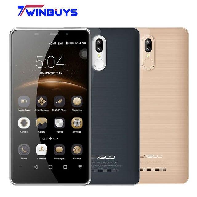 """Leagoo M8 Pro 4 г мобильный телефон Dual сзади Камера 5.7 """"Android 6.0 MT6737 Quad Core 2 ГБ + 16 ГБ 13.0MP отпечатков пальцев 3500 мАч смартфон"""