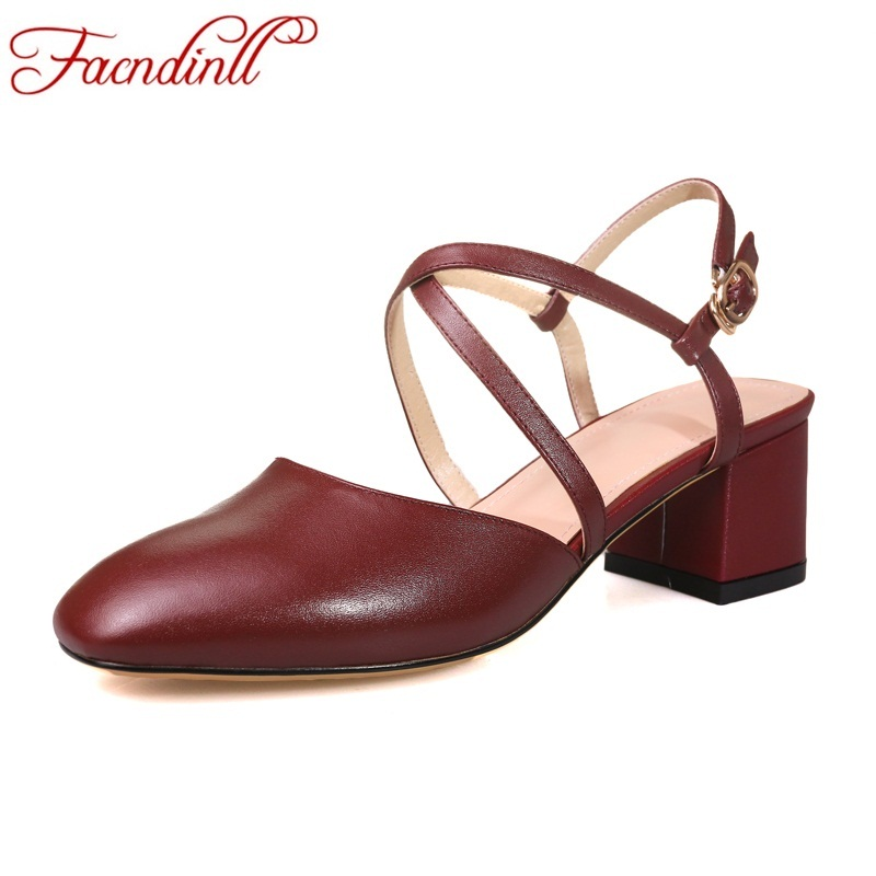 FACNDINLL summer shoes 2018 new fashion genuine leather gladiator sandals shoes woman high heels cross-tied dress party shoes facndinll genuine leather sandals for