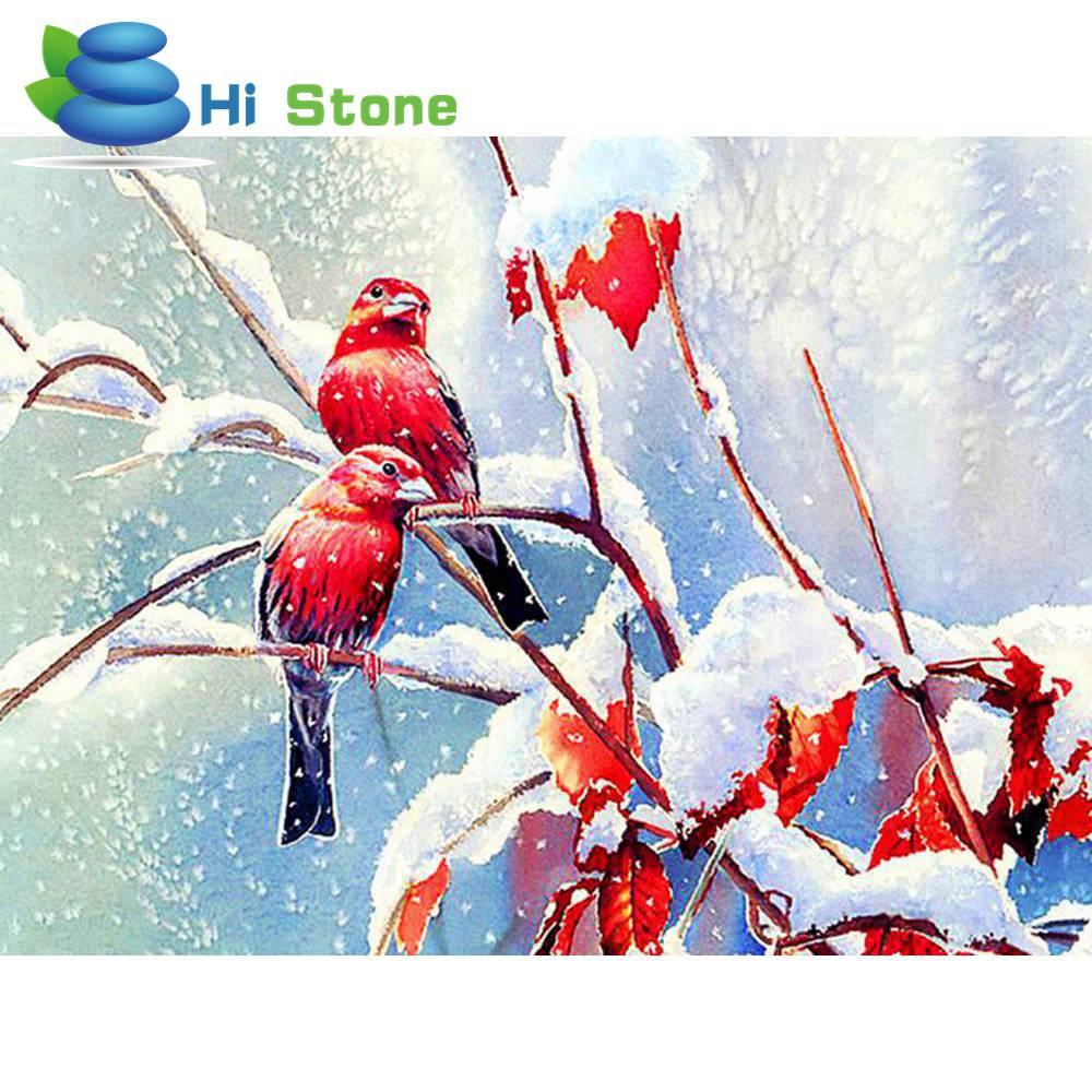 5D поделки алмазов картина красная птица полный квадрат горный хрусталь вышивка крестиком Алмазная вышивка мозаичные украшения подарок