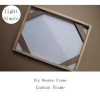 Simple Diy Wooden Inner Frame Wood Framework Photo Framework Light Frame For Canvas Prints Oil Painting