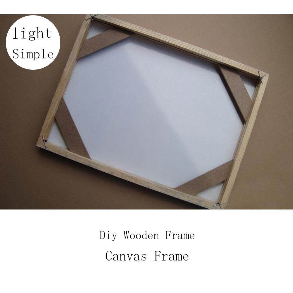 Us 14 91 Simple Diy Wooden Inner Frame Wood Framework Photo Framework Light Frame For Canvas Prints Oil Painting Wall Art Picture Frames In Frame