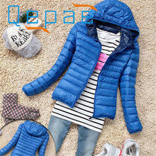 Shocking Show 1PC Women Winter Warm Candy Color Thin Slim Down Coat Jacket Overcoat