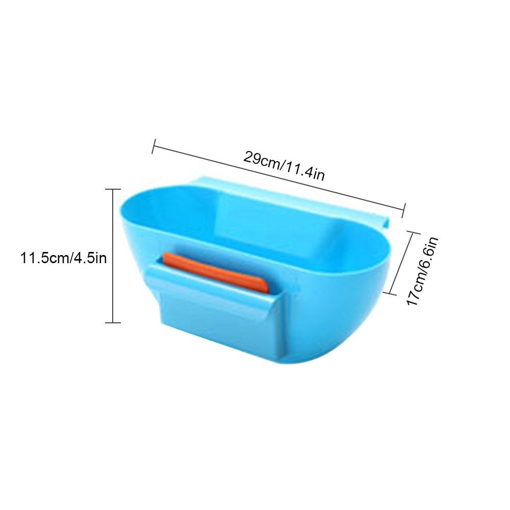 Caja de almacenamiento de plástico cesta cocina basura organizador ...