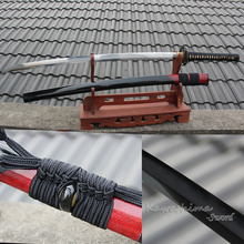 Grade A Japanese Katana Sword Kobuse Damascus Forged Folded Steel Clay Tempered Blade Sharpness Ready for Battle