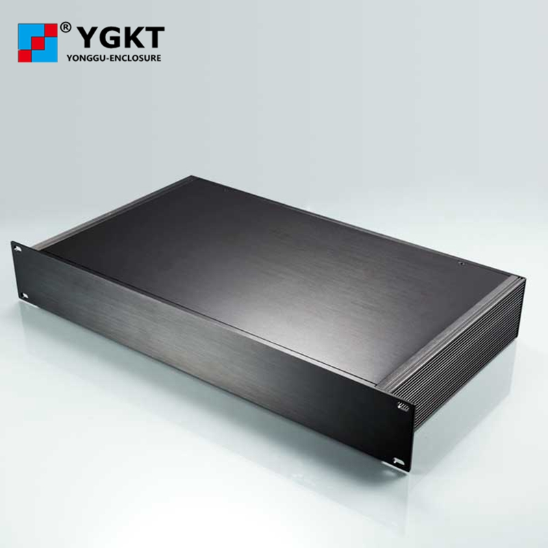 YGH-003 482*66.5-250 mm (wxhxd) 1.5 U full aluminum rack mount chassis , 19 inch chassis server rack cabinet 1 piece 3 u chassis rack mount chassis aluminum project box aluminum enclosure 132 h x482 w x250 l mm