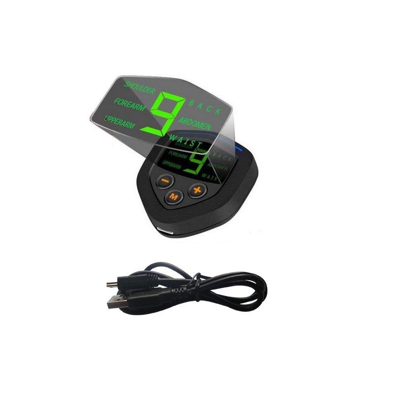 Estimulador muscular abdominal vibração elétrica fitness massageador