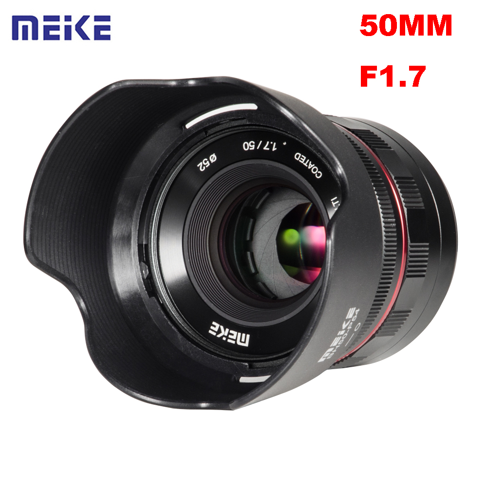 Meike 50mm F1.7 Large Aperture Manual Focus Prime Lens for Sony Full Frame E-mount Mirrorless Camera A6300 A6000 A6500 NEX3 NEX7