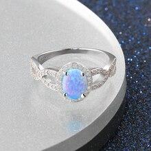 925 Sterling Silver Fire Opal Rings For Women