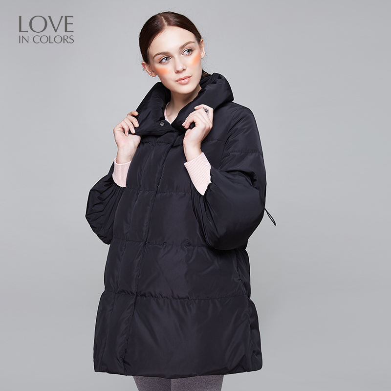 New Fashion Maternity Down Jackets Coats Women Warm Winter Partial Thickness Cute Pocket Soft Solid Pregnancy Outerwear