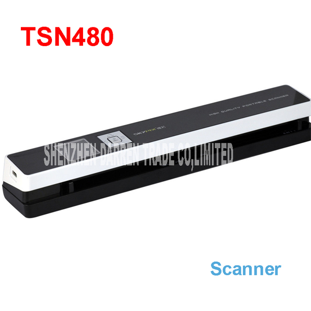 Portable scanners skypix TSN480 automatic HD feed High speed A4 file scanning certificate send 8G TF card scanner IDcard 1200DPI
