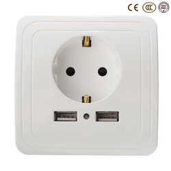 Wholesale wall power socket plug grounded 16a eu standard electrical outlet with 2000ma dual usb charger.jpg 250x250