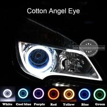 все цены на BAOBAO 2PCS Car Light Angel Eye LED DRL Car Motorcycle Fog Light Halo Rings Waterproof Auto Headlight Turning Signal Lampshades онлайн