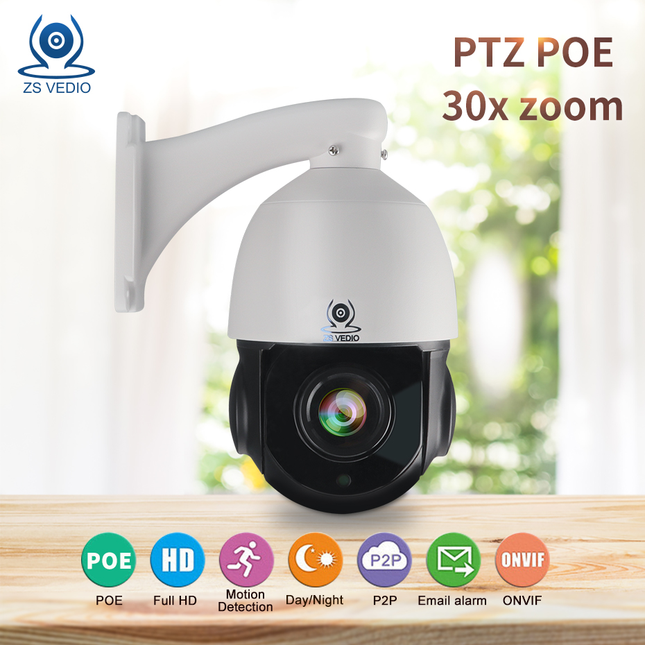 ZSVEDIO Hisee HD PTZ IP Camera Outdoor 5MP 2MP 30X Zoom High Speed Dome Camera Waterproof P2P CCTV Security Camera POE Onvif image