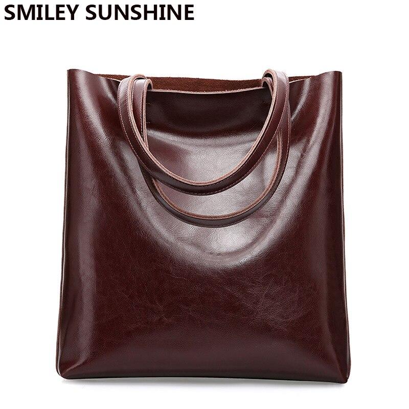 100% Vache sac en cuir Dames Véritable sacs à main en cuir Grand sacs pour femmes Vintage Femelle De Mode Bureau sacs à bandoulière pour sac pour femmes