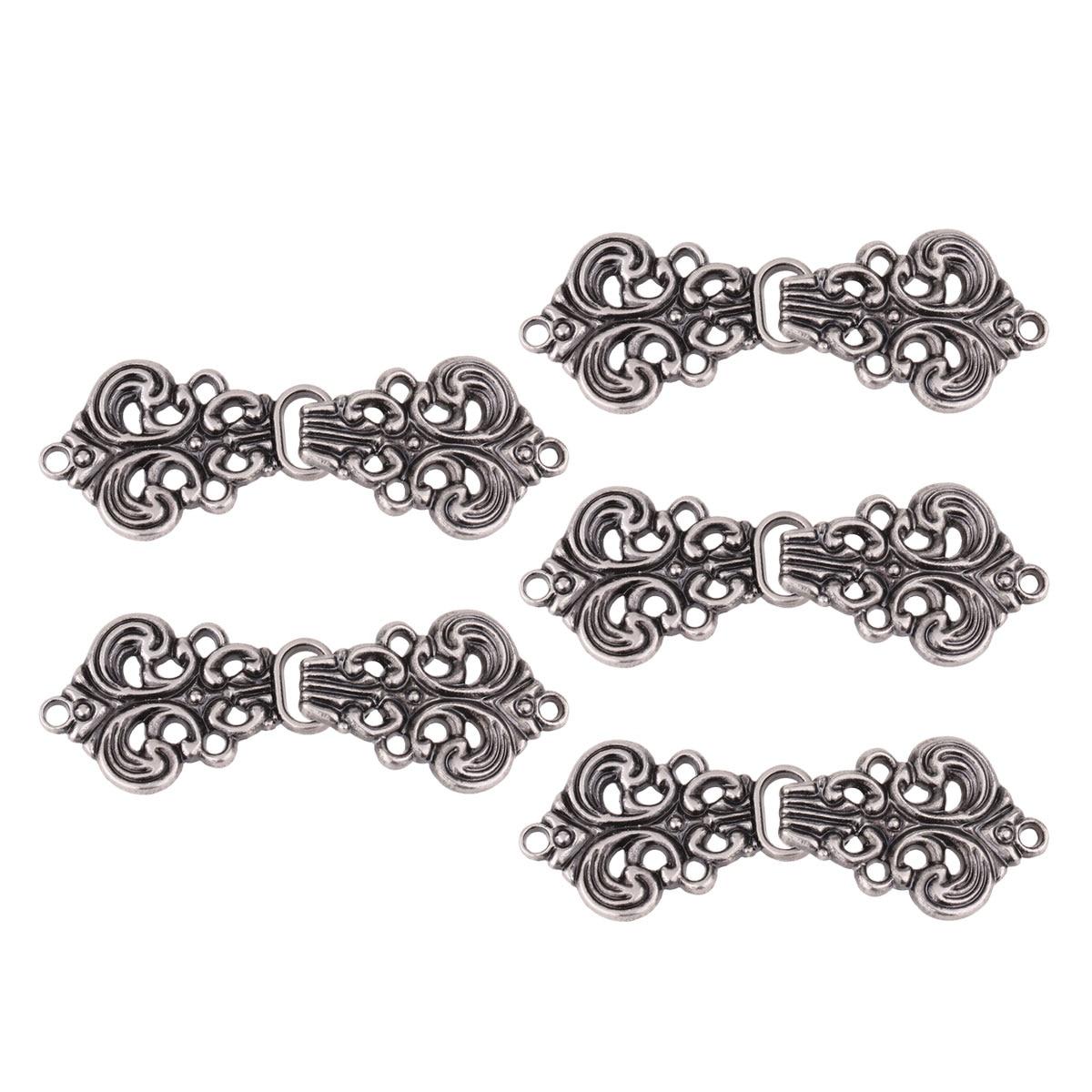 11x8mm Noir trouver-a5599 100 Pièces S Crochet en Alliage fermoirs
