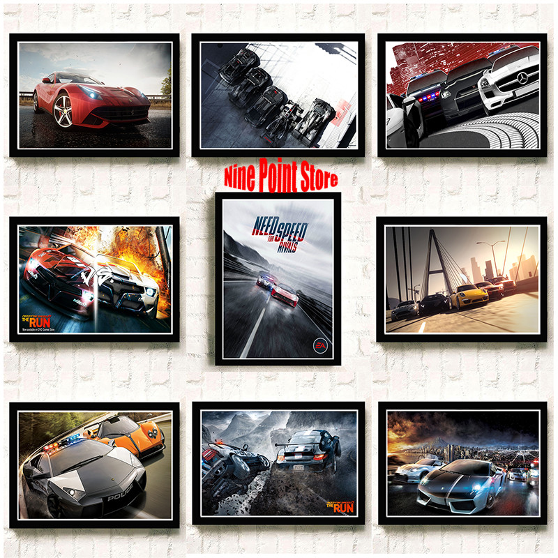 Need For Speed Game poster car Coated paperhome wall decor paingting wall sticker bar decor Children room decor 42*30cm image