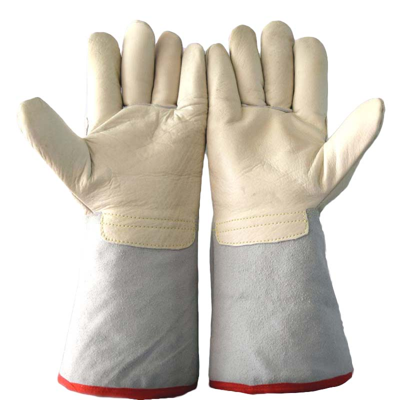 Working Gloves Low temperature liquid nitrogen Gloves Thick Warm Sponge Anti-cold Cold-resistant Anti-freezing Dry ice Gloves liquid nitrogen liquid ammonia antifreeze leather gloves lng filling stations low temperature ice cold water cold
