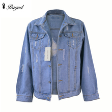Bf Wind Autumn And Winter Women Denim Jacket 2016 Vintage Harajuku Loose Female Ripped Jeans Coat Casual Outwear Chaquetas Mujer