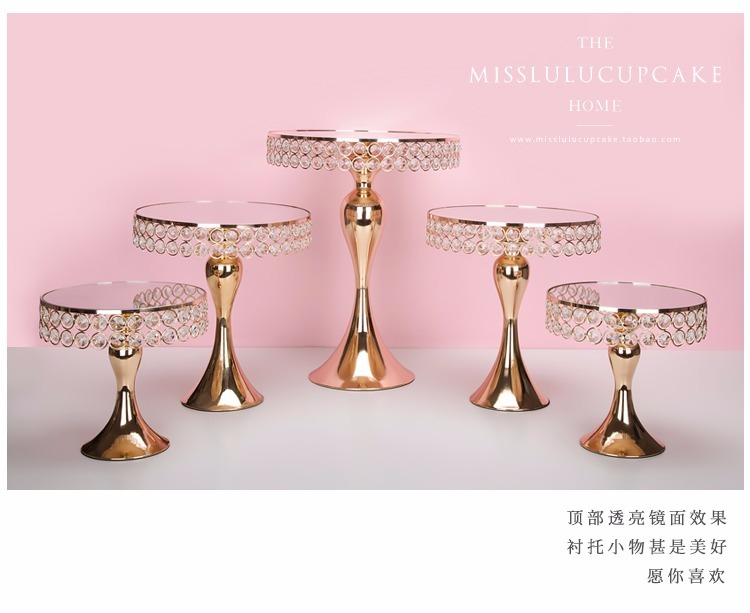 3-5pcs Arrive new set cart gold electroplating gold cake face bar table of candy to the wedding party decoration3-5pcs Arrive new set cart gold electroplating gold cake face bar table of candy to the wedding party decoration