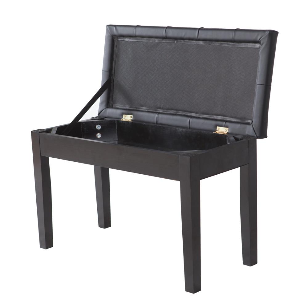 Único Muebles De Almacenamiento De Las Heces Negro Friso - Muebles ...
