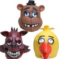 Máscara para rostro completo de látex para Chica Foxy, disfraz de juguete para niños, disfraz de juguete para Halloween