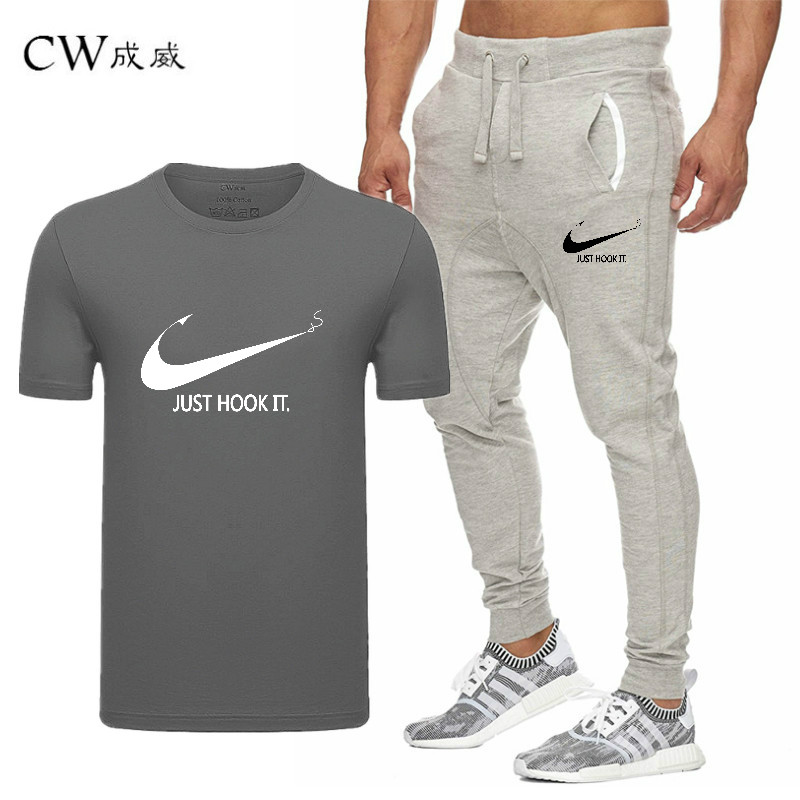 HTB1XviqVxTpK1RjSZFMq6zG VXax 2019 Quality Men T Shirt Sets+pants men Brand clothing Two piece suit tracksuit Fashion Casual Tshirts Gyms Workout Fitness Sets