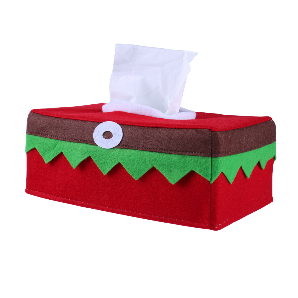 Cute Tissue Box Cover Napkin Storage Case Christmas Party Table Decoration Home