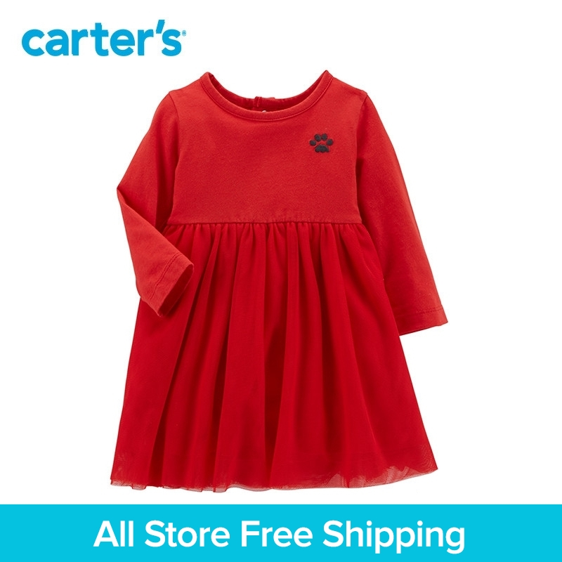 Carters 1-piece baby children kids clothing Girl spring summer Tulle cotton Dress 127H127
