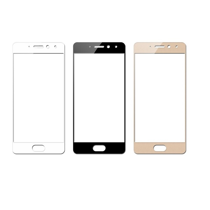 Full cover Tempered Glass for MEIZU Pro 7 PRO7 MEIZURPO7 phone Screen Protective toughened on frame edges covers in Phone Screen Protectors from Cellphones Telecommunications