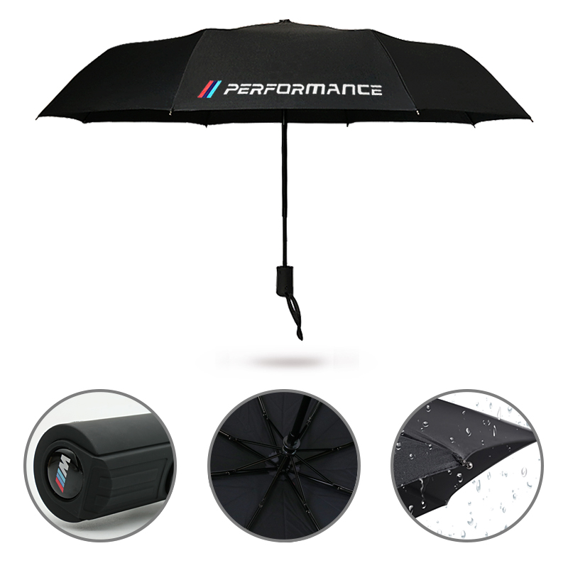 New Brand Large Folding Umbrella Rain Business Gift Umbrella Automatic Windproof For BMW E36 E46 E39 X5 X1 M3 M5 M performance large double layers folding umbrella windproof rain gear