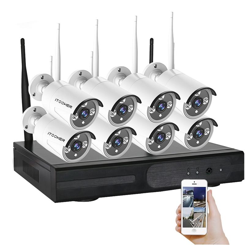 cheaper wifi camera kit 8ch ip cctv kit p2p ir night vision plug play video surveillance wifi. Black Bedroom Furniture Sets. Home Design Ideas