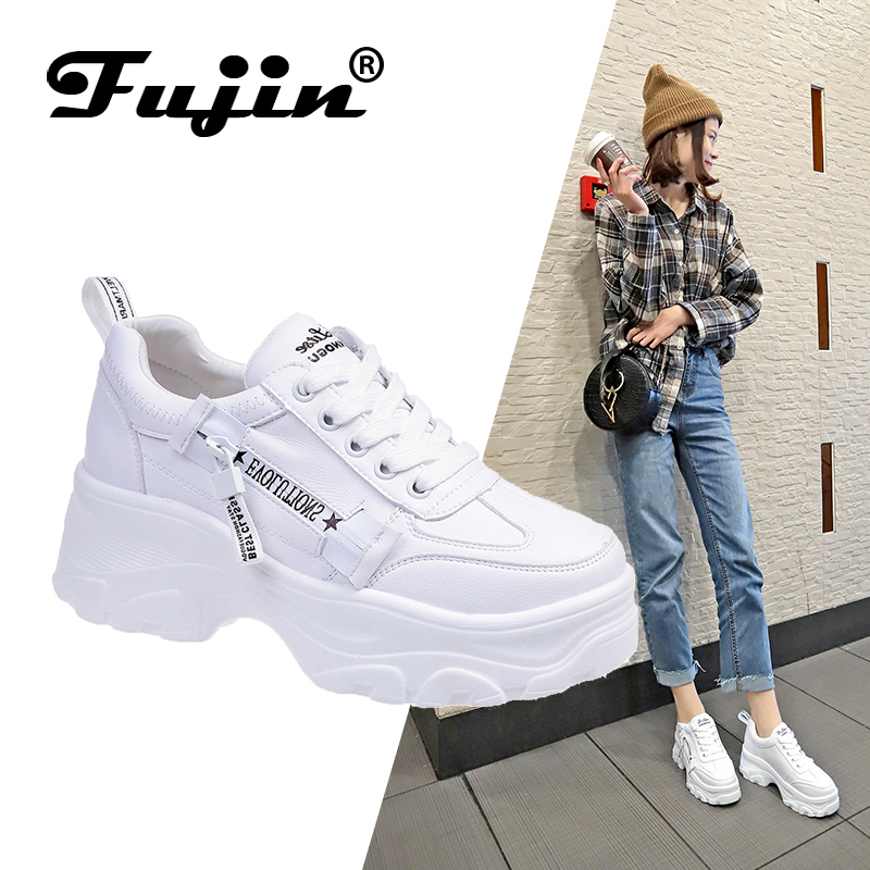 FUJIN Women Flats Shoes Comfortable Autumn Spring Winter Keep-Females Lace-Up Casual