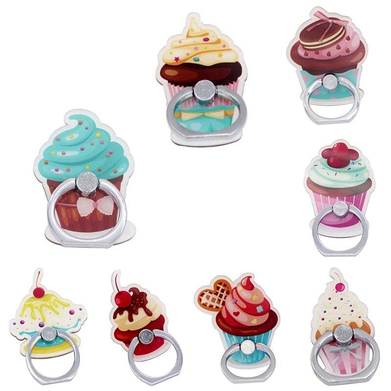 Mobile Phone Ring Holder Food Cake Design Phone Holder SmartPhone Desk Tablets Support For Universal