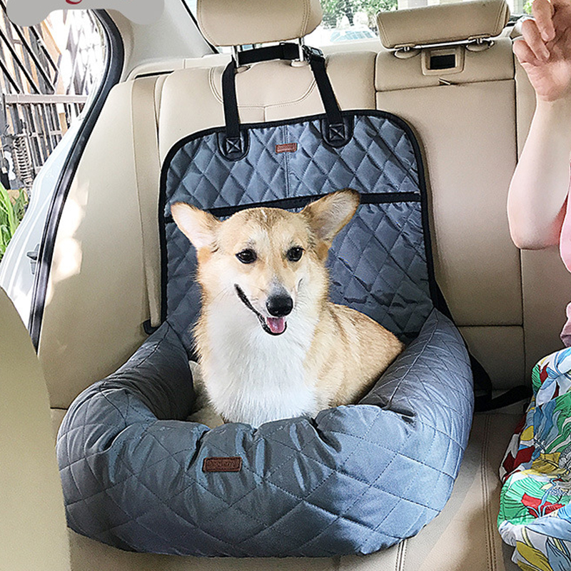 Multi Function Pet Booster Bed Deluxe Dog Car Seat Cover Lounge Mattress Rear Thickening Mat GB0105 In Carriers From Home Garden